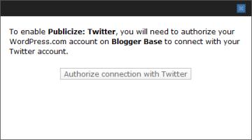 authorize Twitter